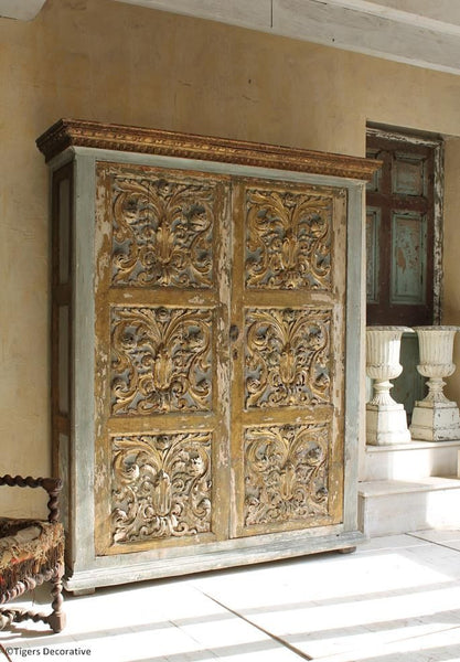 Gilt & Painted French Cupboard