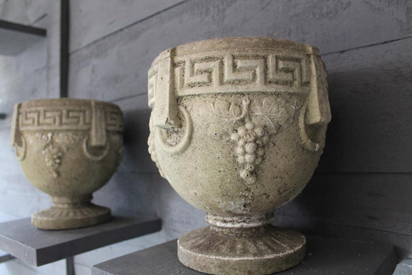 Pair Of Composition Urns