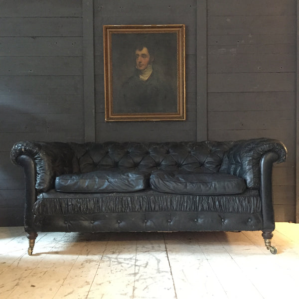 Edwardian Leather Chesterfield Sofa Antique Sofa Buy On Line