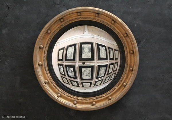 Mid 20th Century Gilded Circular Convex Mirror