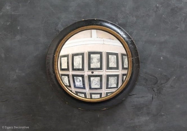 Mid 19th Century Circular Convex Mirror