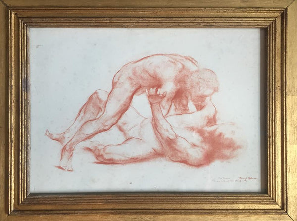 ''The Throw'' Lithograph