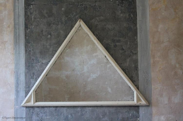 20th Century Unusual Triangular Mirror