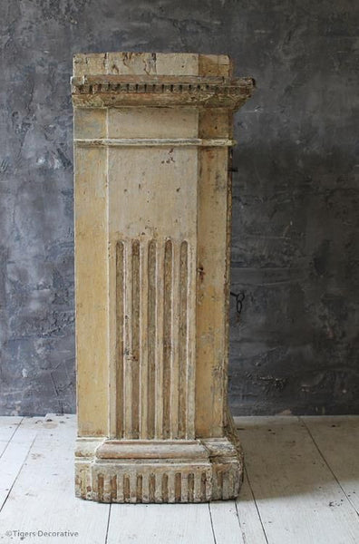 19th Century Painted Plinth Cupboard