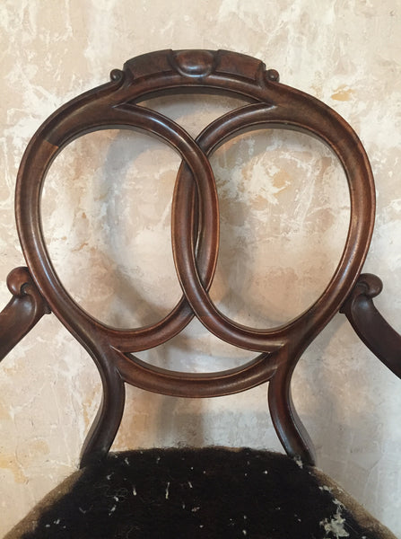 Walnut Salon Chair
