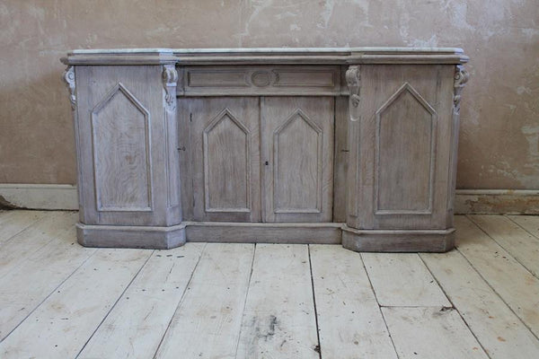 19th Century Gothic Revival Bleached Oak Sideboard