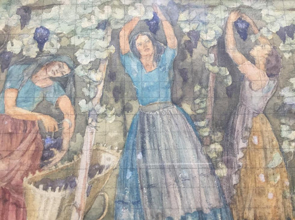 Oil Painting Of Grape Harvesters