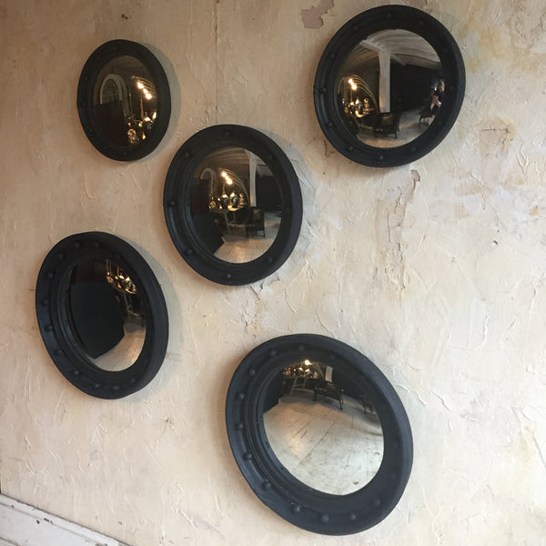 Set Of Five Convex Mirrors