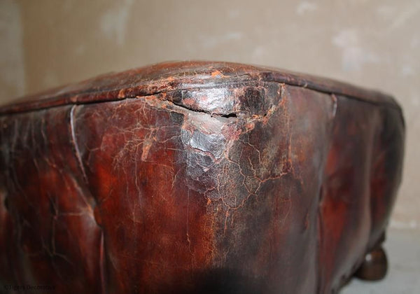 Edwardian Leather Foot Stool