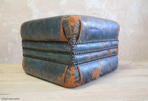 20th Century Leather Pouffe