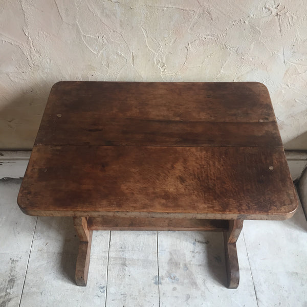 Yew Wood Stool / Table