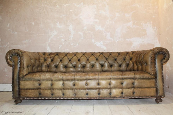 Mid 20th Century Leather Chesterfield Sofa