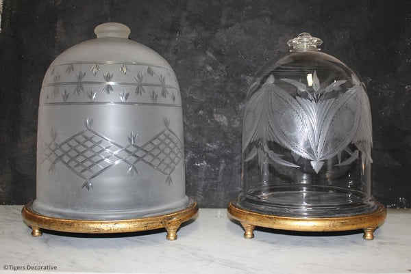 Victorian Opaque Glass Dome