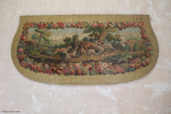 French Painted Canvas Panel