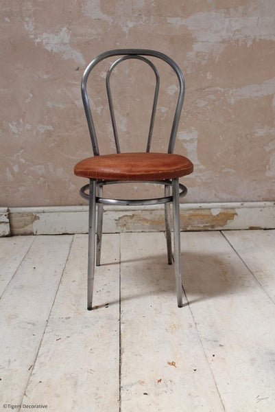 Set Of 8 1970's Italian Steel Dining Chairs