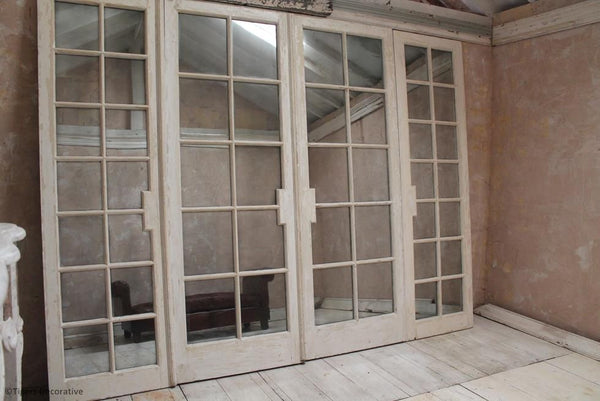 Pair Of Edwardian Conservatory Mirrored Doors