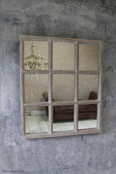 18th Century Carved Pine Mirrored Door