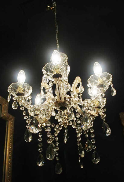 20th Century Glass Chandelier