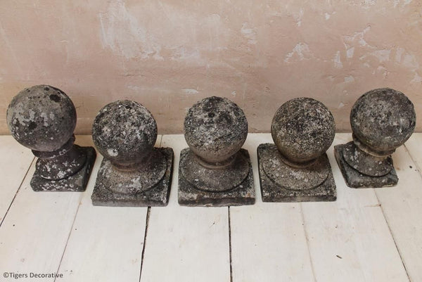 Set Of Three Sphere Finials