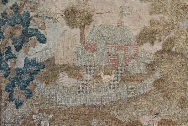 18th Century Needle Work Picture