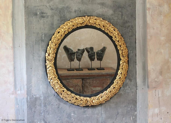 20th Century Gilded Metal Mirror