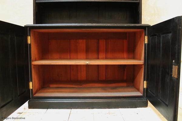 George V Ebonised Bookcase
