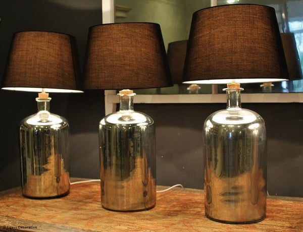 20th Century Mirrored Glass Lamps