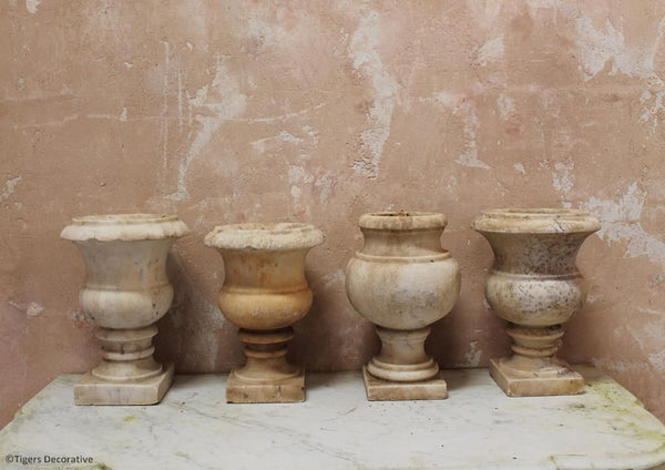 Late 19th Century Marble Urns