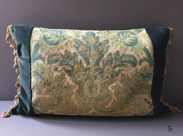 19th Century Set Of Needlework Floral Cushions