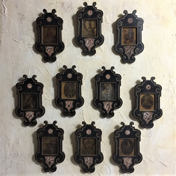 Set Of Ten 17th C Framed Devotional Engravings