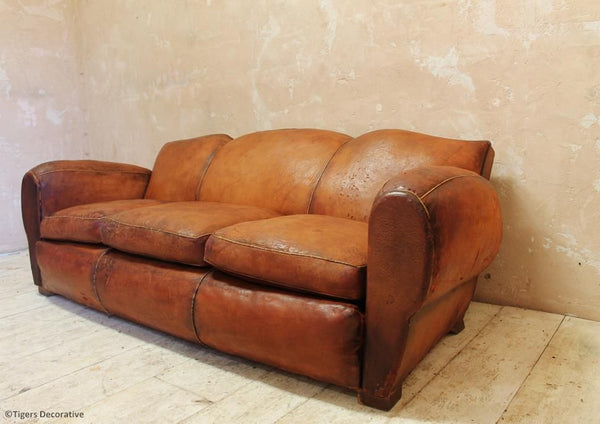20th Century Leather Sofa