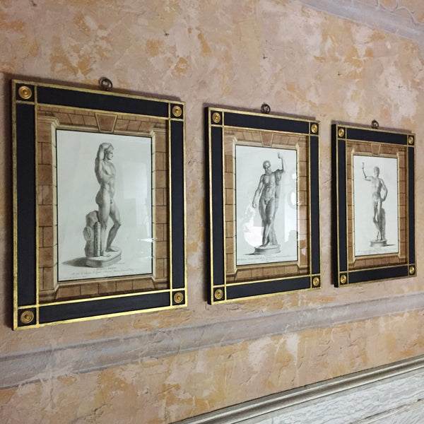 Set Of Roman & Greek Framed Engravings, A.Zanetti