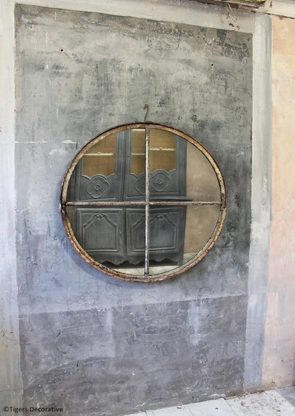 Industrial Mirrored Window