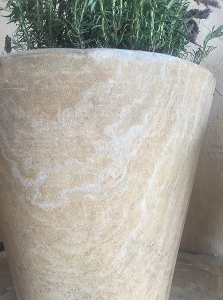Pair Of Sandstone Planters