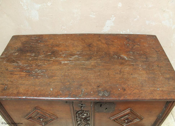 15th Century Walnut Coffer