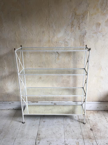 French Painted Iron Etagere
