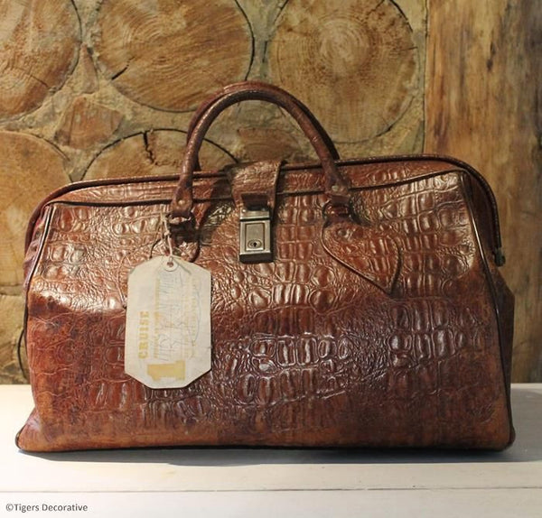 Vintage Leather Gladstone Bag