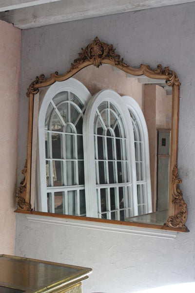 19th Century Walnut Carved Mirror
