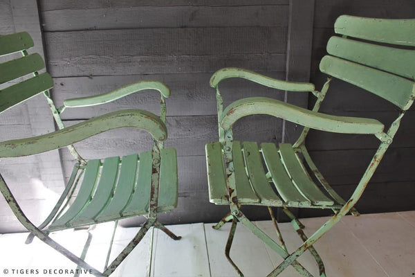 Near Pair Of Garden Chairs