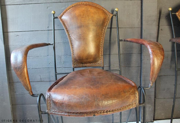 Iron & Leather Dining Chairs