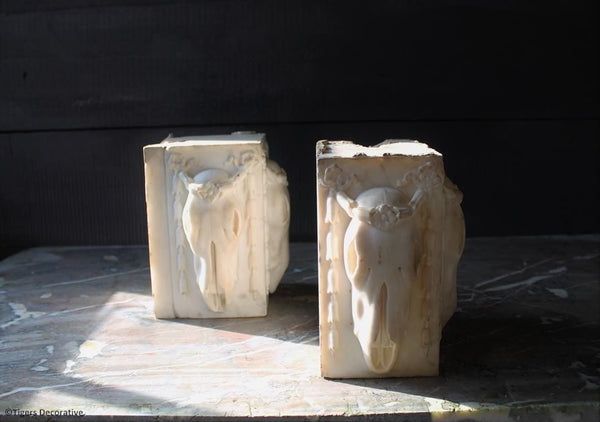 Pair Of Marble Chimney Blocks