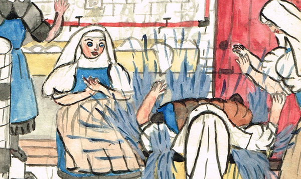 Nuns Laundry Painting