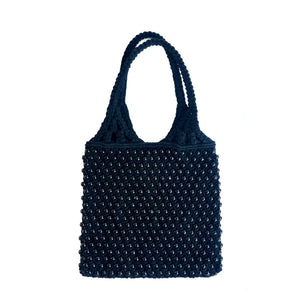MACRAME BEAD BAG Black/Black