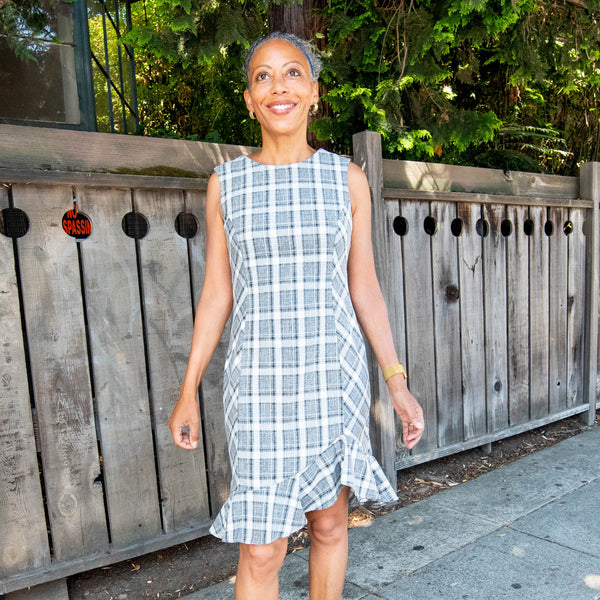CYNTHIA Grey Plaid
