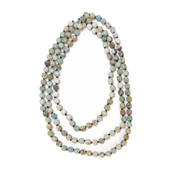 Frosted Amazonite Beaded Necklace