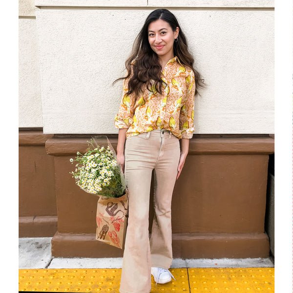 KATHRYN blouse Yellow Canary
