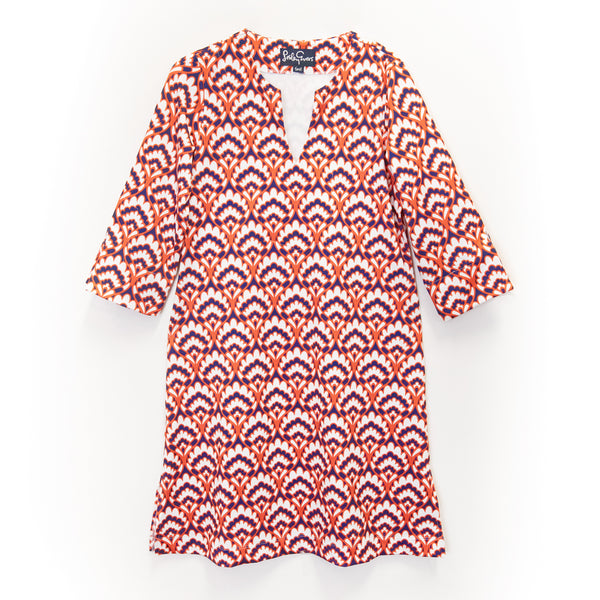 MAEVE Geo Bloom Navy/Orange - Tiny & XS only