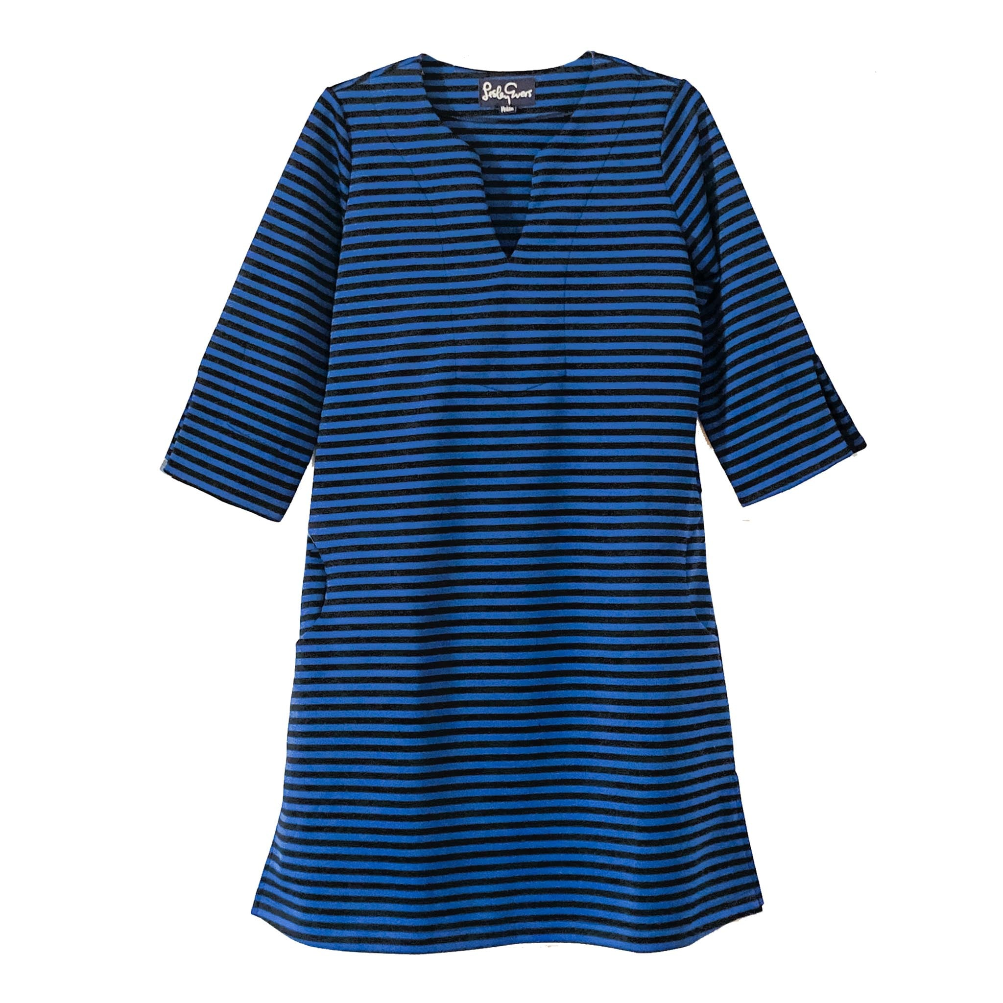 MAEVE Royal/Black Stripe