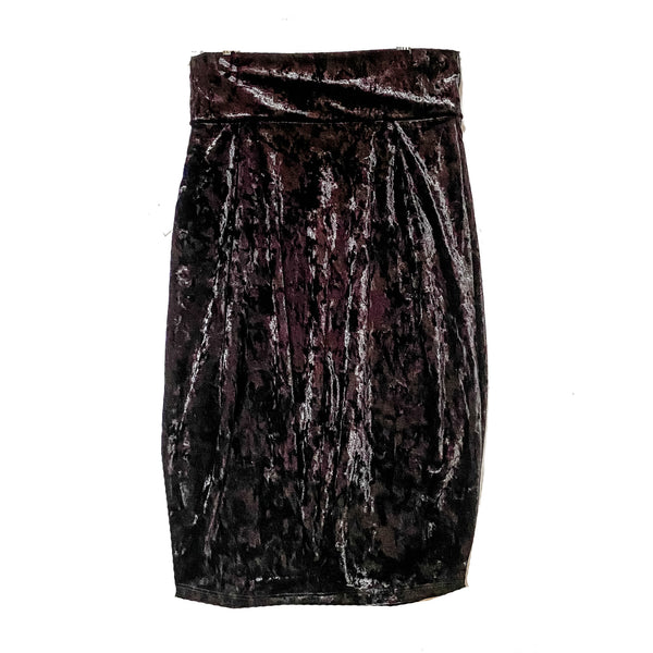 MALLORY Black Crushed Velvet