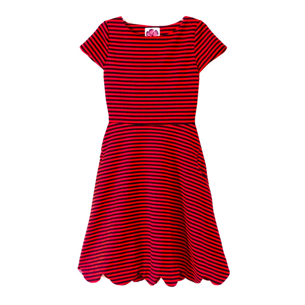 PENELOPE Red/Black Stripe